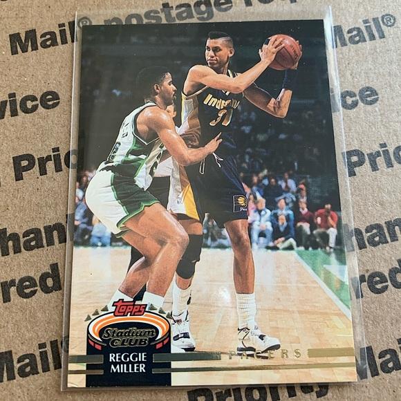 Reggie Miller '93 Topps Stadium Club Card